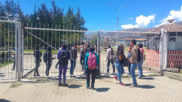 Toma de la Universidad Nacional de Cajamarca