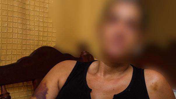 Claudia Margarita Marcado Azañero dijo estar cansada de los constantes golpes