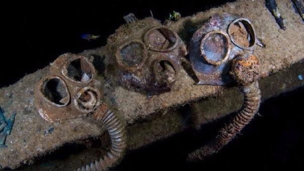 Impactantes fotos de aviones de la Segunda Guerra Mundial en las profundidades del mar