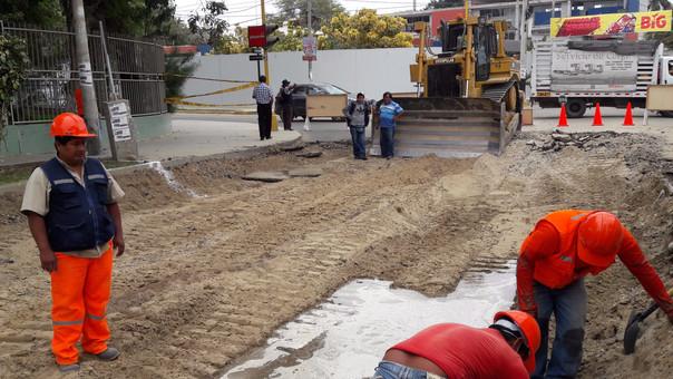 Municipalidad de Piura inició la rehabilitación de avenida Los Tallanes.