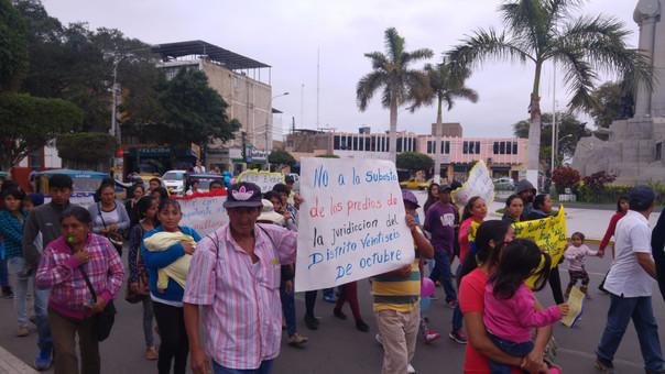 Población de Veintiséis de Octubre se niega a la subasta de terrenos que están ubicados en su distrito.