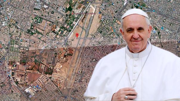 Durante su visita al Perú, el papa Francisco dará una misa para 1 millón 300 mil fieles en la base aérea Las Palmas.