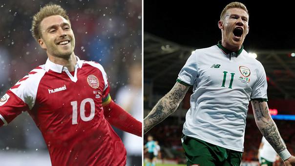 Dinamarca e Irlanda empatan en la ida rumbo a Rusia