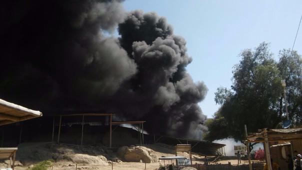 Ministerio de Cultura evalúa daños causados por siniestro — Incendio en Ventarrón