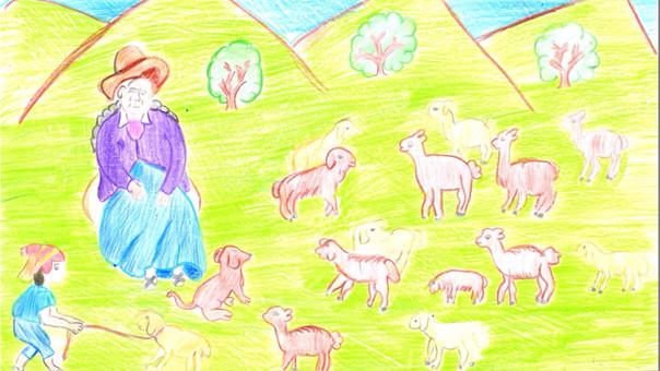 Catarina Huamán de Cusco fue una de las ganadoras en la categoría dibujo y pintura.