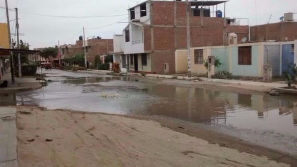 Colapso de desagüe en el Cercado de Chincha.