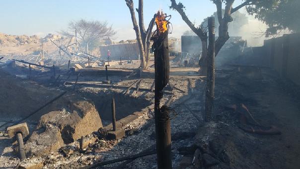Incendio en complejo Ventarrón