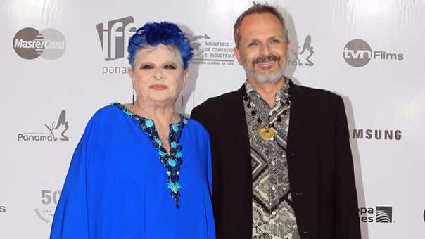 Lucía Bosé y Miguel Bosé