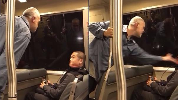 Ataque racista en el metro de Estados Unidos