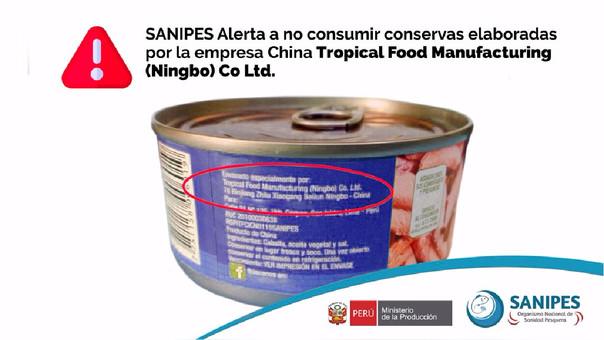 Los consumidores pueden verificar en el reverso de la marca de la conserva si es un producto de la empresa china.