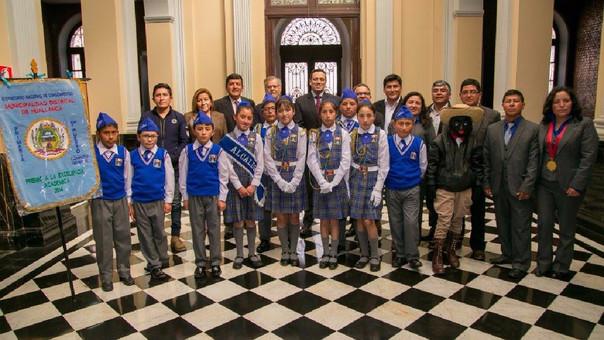 Escolares del colegio Virgen de Fátima.