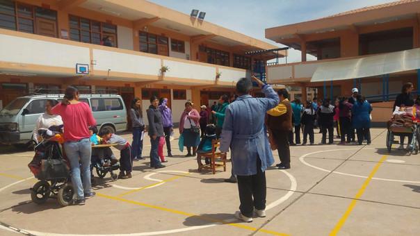 Simulacro colegio Don José de San Martin Cusco