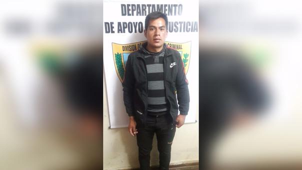 El detenido fue puesto a disposición del Juzgado Penal Colegiado de Cajamarca