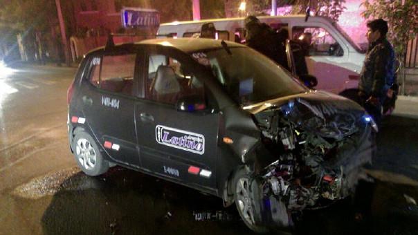 Auto que protagonizó accidente en Arequipa