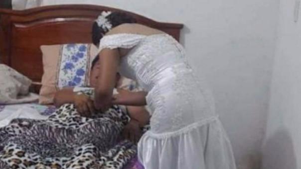 Enfermera deja su boda para atender a paciente