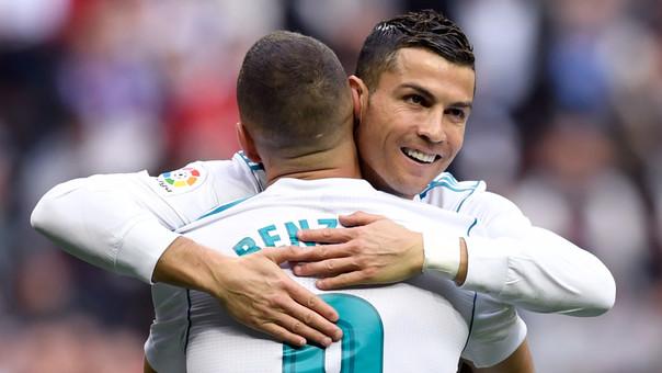 Karim Benzema y Cristiano Ronaldo volvieron al gol en el partido contra el Málaga.