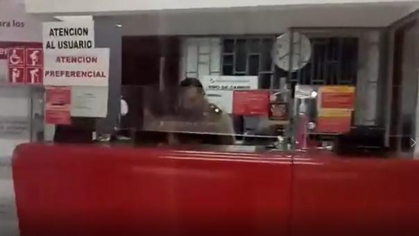 Policía investiga asalto del Banco de la Nación.