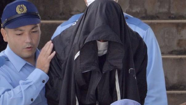 El exmarine a la salida del juicio en el que admitió haber violado a la joven japonesa.