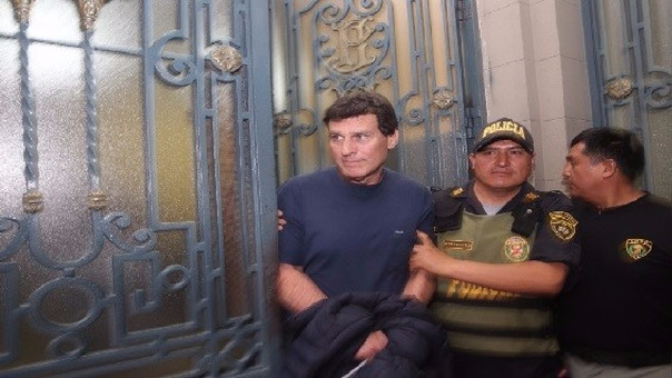 Fernando Camet fue traslado esta tarde al penal Ancón II.
