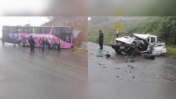 La Policía de Carreteras trasladó a los heridos hasta el centro de salud de Huambos (Chota)