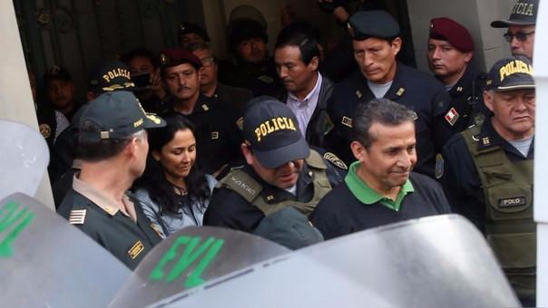 Heredia y Humala el día en que fueron trasladados a los penales donde cumplen prisión preventiva.