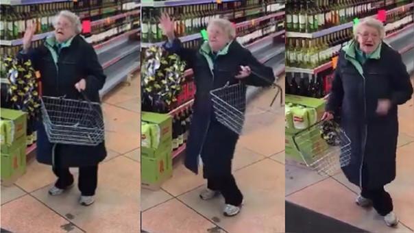 El feliz y despreocupado baile de esta anciana enternece la red