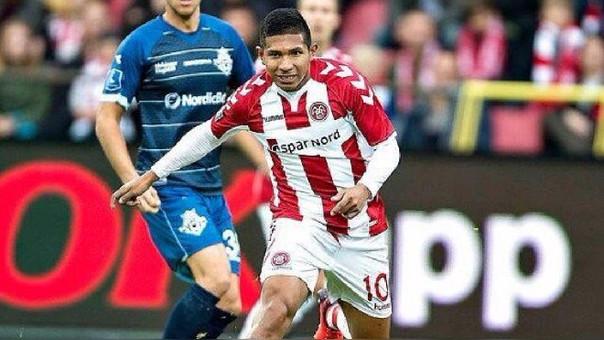 Edison Flores llegó al Aalborg en la temporada 2016/2017.