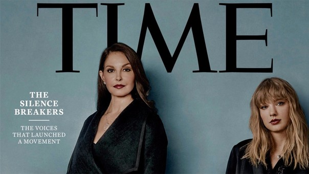 Ashley Judd y Taylor Swift son dos de las personas que salen en la portada.