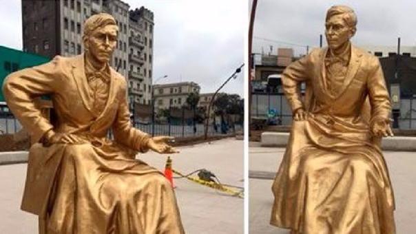 Así lucen las estatuas tras las reubicación en la alameda de la avenida 18 de julio.
