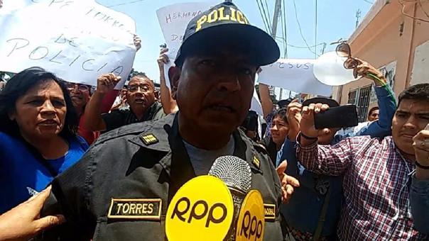 POLICÍA PROTESTÓ