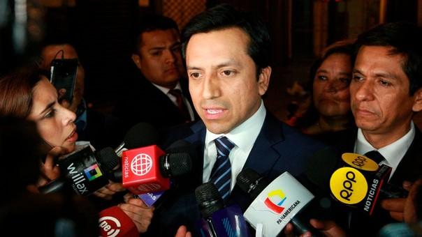 Gilbert Violeta se mostró satisfecho por la respuesta del presidente a los pedidos de renuncia de la mayoría de bancadas parlamentarias.
