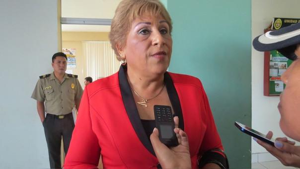 Alcaldesa de la Municipalidad Provincial del Santa, Victoria Espenoza García.