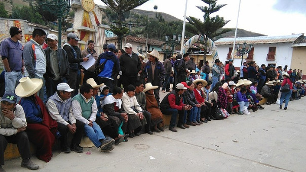 Protesta contra proyecto Michiquillay