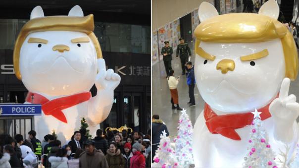Trump es protagonista del Año Nuevo Chino