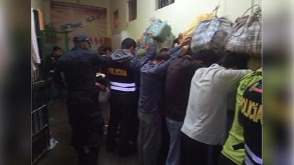 La requisa se realizó, al mismo tiempo, en todos los pabellones del penal de Cajamarca