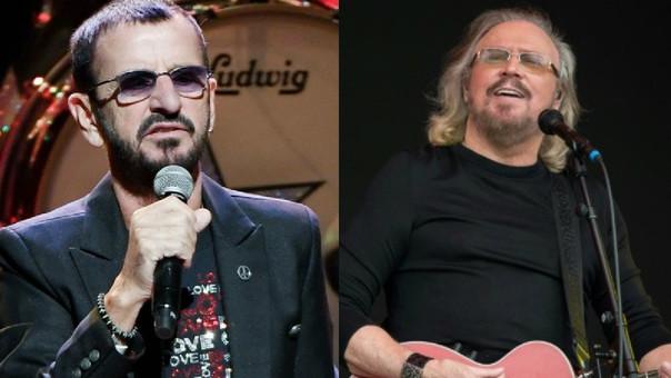 Ringo Starr y Barry Gibb