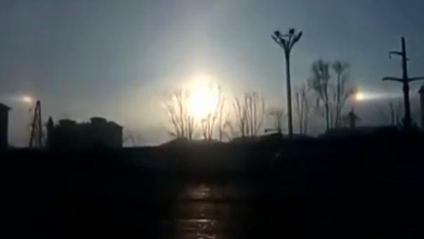 Tres soles iluminan el cielo de China
