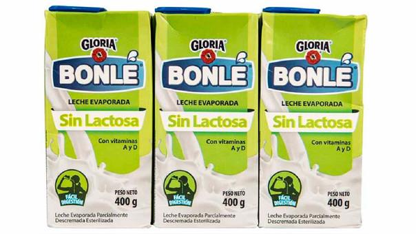 Indecopi sanciona a Gloria por Bonlé Leche Evaporada Deslactosada.