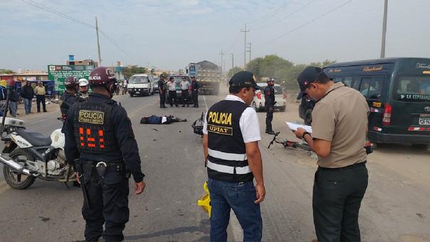 Accidentes de tránsito en la región Lambayeque