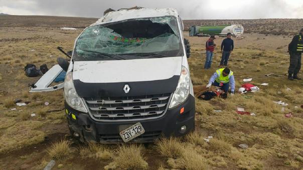 Accidente de tránsito en carretera Arequipa-Puno