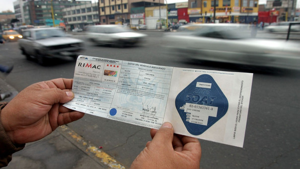 Cuatro de cada diez vehículos en Perú no tienen seguro contra accidentes de tránsito.