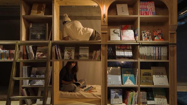 Este albergue en Tokio es el sueño de todo amante de los libros