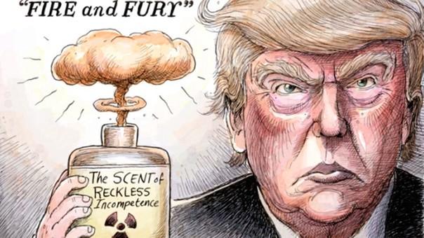 El título de 'Fuego y furia' hace referencia a la amenaza que hizo sobre un ataque de los Estados Unidos a Corea del Norte.