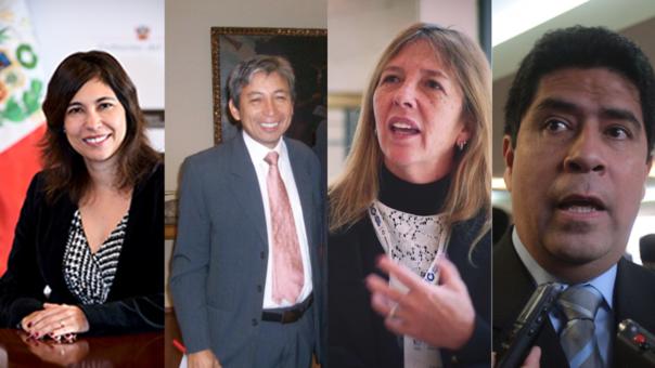 De izquierda a derecha, los ministros Ángela Grossheim, José Arista, Lieneke Schol y Javier Barreda.