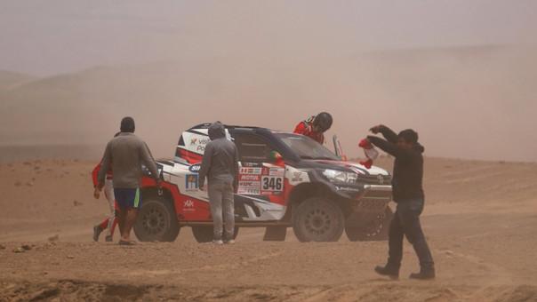Villas-Boas estuvo al volante de un Toyota Hilux. Su copiloto fue su compatriota Ruben Faria.