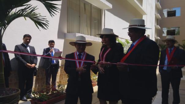 """También se inauguró el """"Patio Verde de la Fe y Esperanza"""", el mismo que está conformado por plantas ornamentales."""