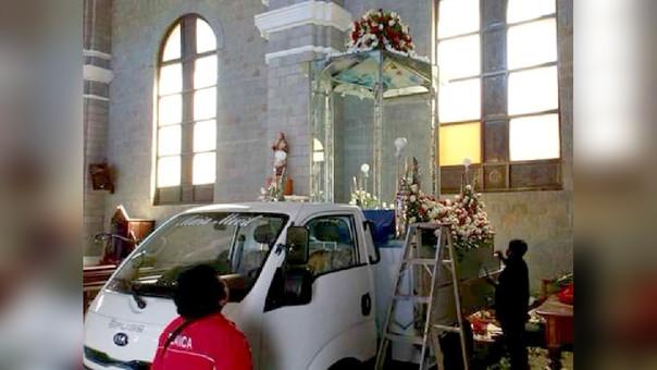 La Virgen de la Puerta tuvo un recibimiento multitudinario en Trujillo