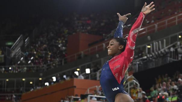 Biles fue la estrella del equipo de gimnasia rítmica en las Olimpiadas de Río 2016.