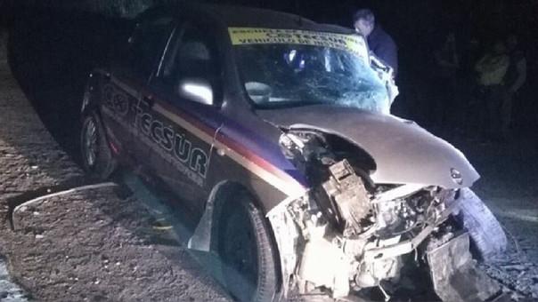 Choque deja un muerto y ocho heridos en Islay
