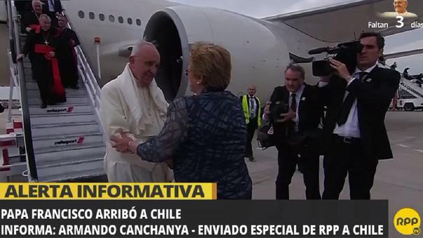 Gira sudamericana del papa Francisco inició en Chile